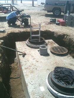 Septic tank and drywell